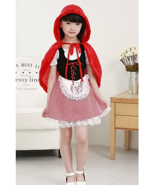 Halloween Party Cosplay Costume For Children Little Red Riding Hood