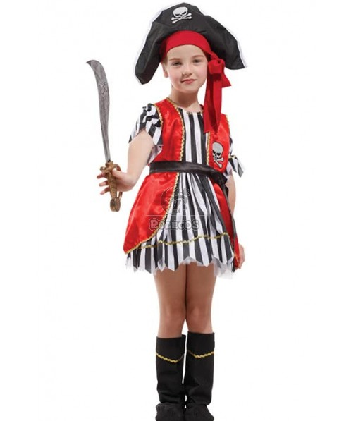 Halloween Party Cosplay Costume For Children Pirates Of The Caribbean
