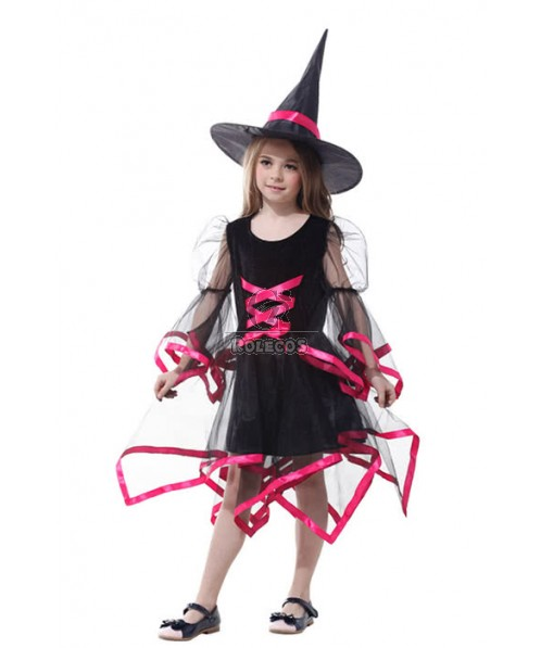Special Halloween Party Costume Witch For Chlidren Three Color For Your Select