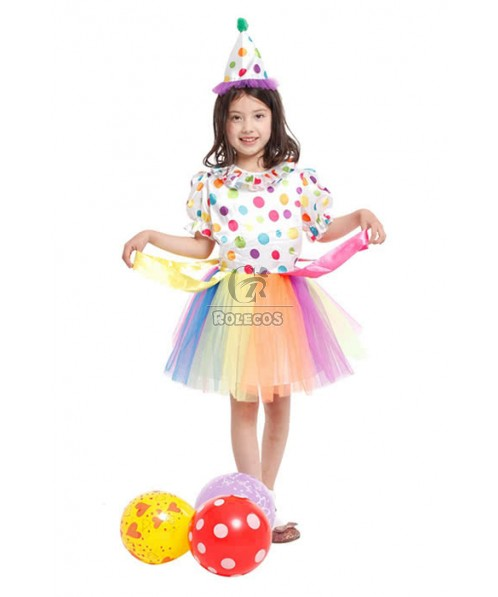 Halloween Party Cosplay Costume Colorful Princess Dress
