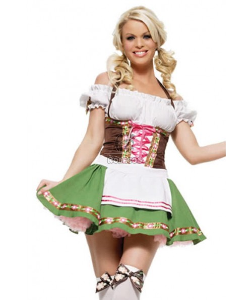 Halloween Cultivate One's Morality Fluffy Skirt French Maid Costumes Waitress Outfit Cosplay Dress