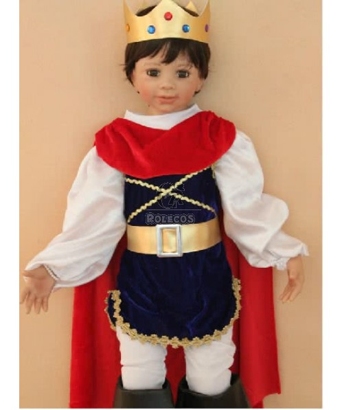 2015 New Style Children's Christmas Costume with Crown Cape