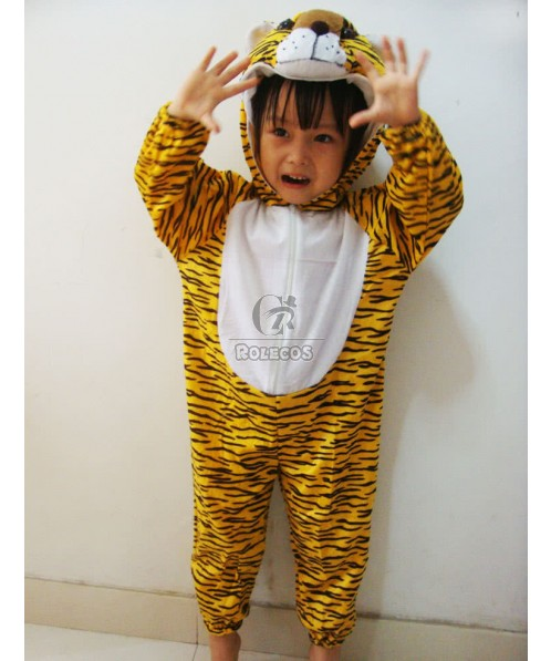 Cute Children Christmas Costume Tiger Modeling Crawling Clothing