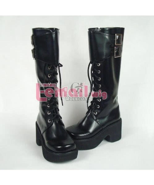 Japan Lolita Cosplay Punk Boots Shoes