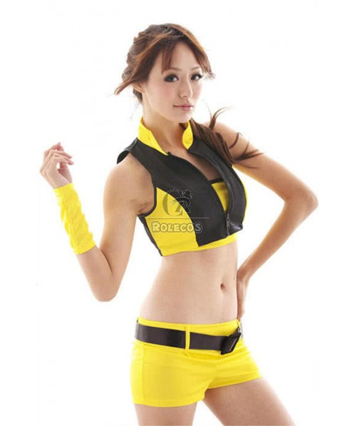 Mix Yellow And Sexy Black Racer Girl Costumes
