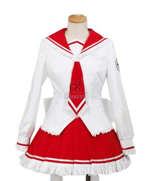Red And White Cosplay Aria The Scarlet Ammo Lucky Star Op Costumes