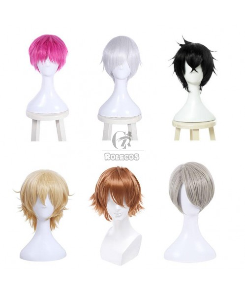 30cm Short Universal Wig 6 Colors Coosplay Wigs