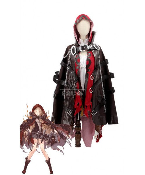 SINoALICE Little Red Riding Hood Red Dress Game Cosplay Costumes