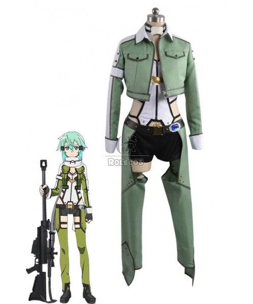 Hot Anime Sword Art Online Sinon Cosplay Costume Female Outfits