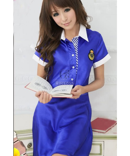 Blue Racer Girl Car Driver Suit For Sexy Women Cosplay Costume