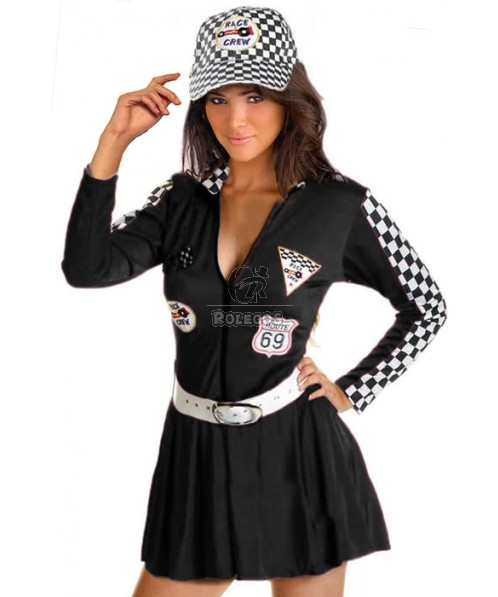 Racer Girl Four Different Colors With Hat Cosplay Costume