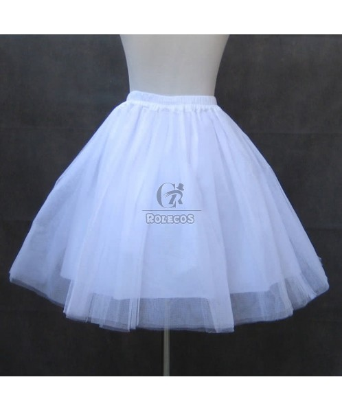 16inch Lolita white and black underskirt crinoline for dress prom girl petticoat