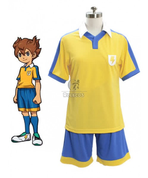 Inazuma Eleven Kaminarimon School Football Player Cosplay Costume