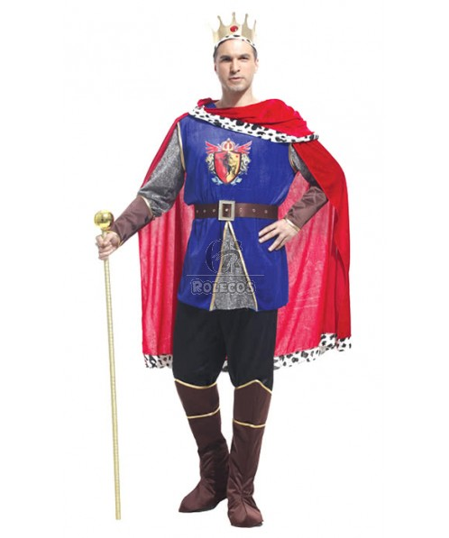 King Christmas Man's Costumes Halloween Holiday Party Cosplay Dress