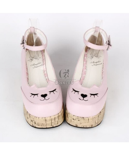 LOLITA baby doll rough with Waterproof princess Anime cosplay party shoes