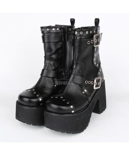 Lolita Cosplay Punk Thick Bottom Queen Boots