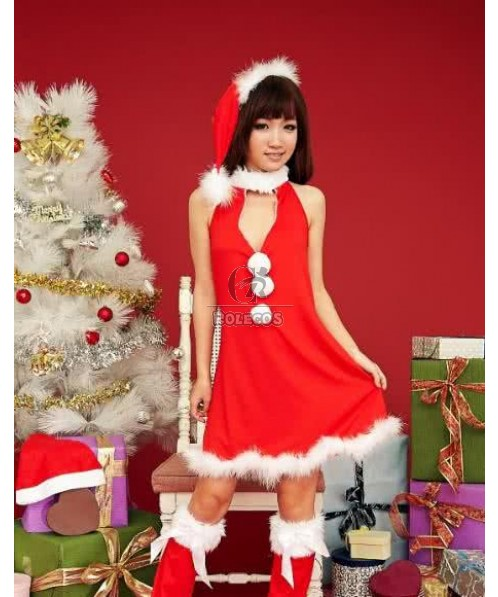 Hot new beautiful Christmas costume for women dress up party dress