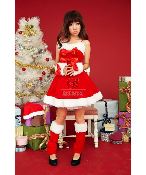 Black and red two colors Christmas costume beautiful sexy dress for your choice