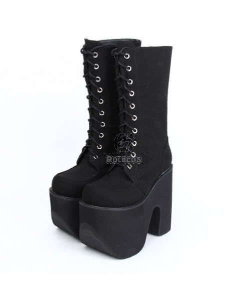 Punk sweet style Lolita cosplay high boots