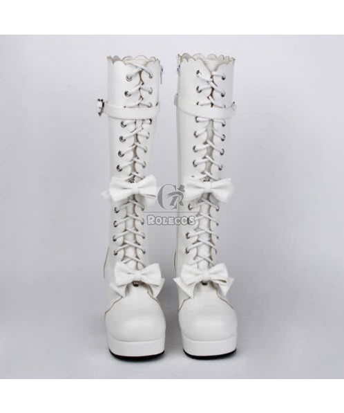 Top Quality Girls Japan Sweet Princess Lolita BowTie BJD Boots Shoes