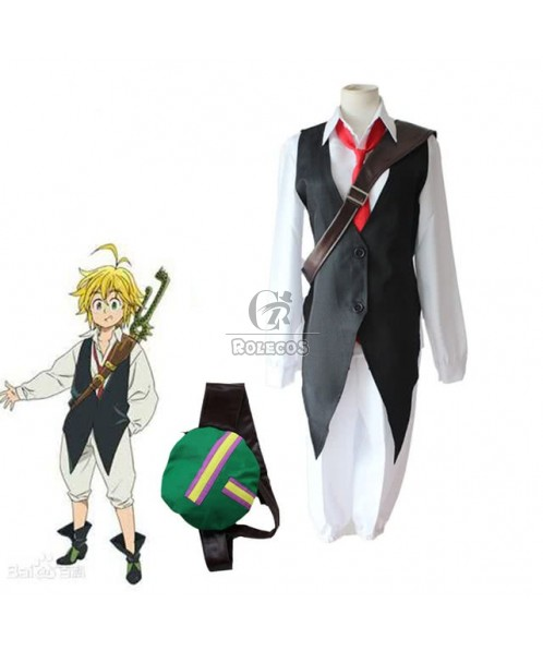The Seven Deadly Sins Meliodas Anime Cosplay Costume Man Full Sets