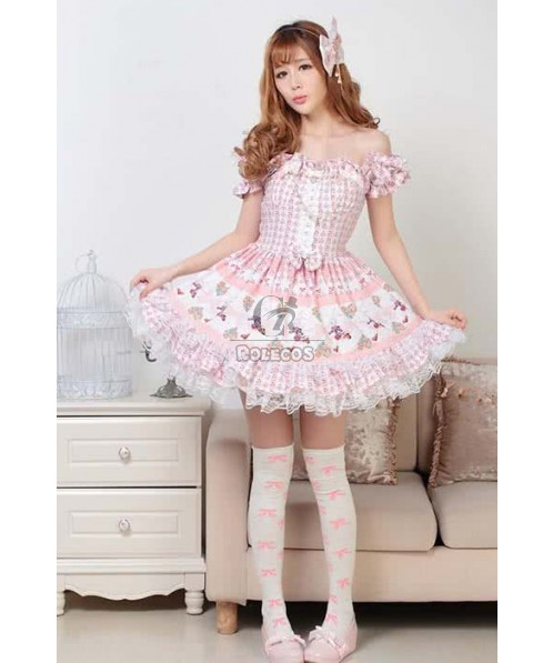 High Quality Lolita Style Noble Corduroy Lavender Color with long slessves