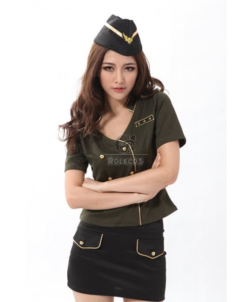 Tempting And Attractive Flight Attendant Costume