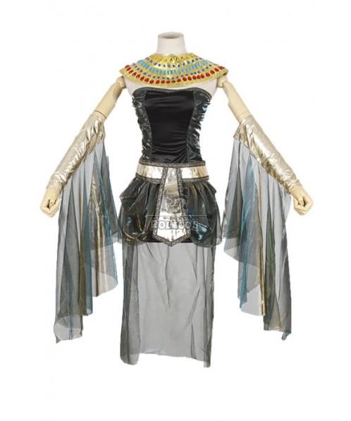 Adult Sexy Cleopatra Egyptian Goddess Queen Of The Nile Costume Halloween