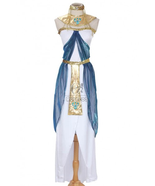 Sexy Fashion Egypt Cleopatra Halloween Costume for Adult Cosplay Dress