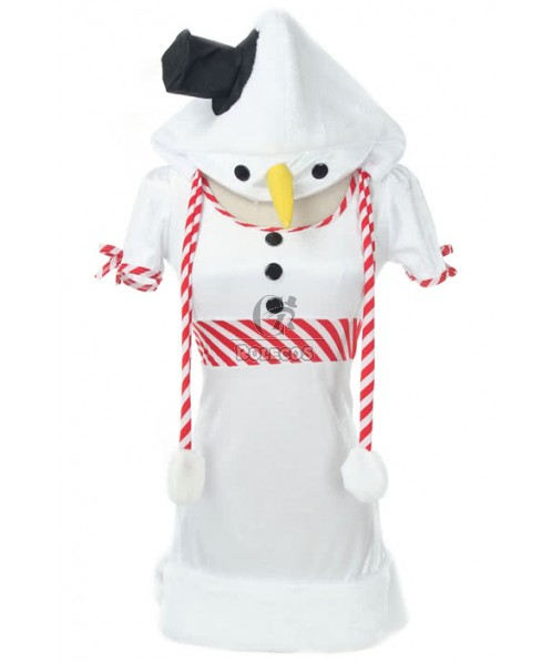 New Arrival Women Christimas Cosplay Costumes White Penguin Decorate