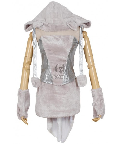 Furry silver gray Halloween animal Costumes Sexy lady role party uniforms