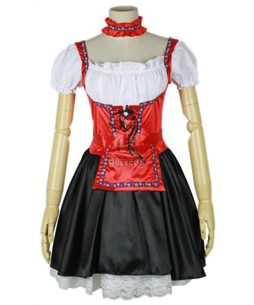 Sexy Beer Maid Girl promotion uniform dress Cosplay