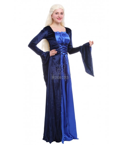 Halloween European Retro Palace Luxury Evening Gown Dress Princess Dress Prom Queen Dress
