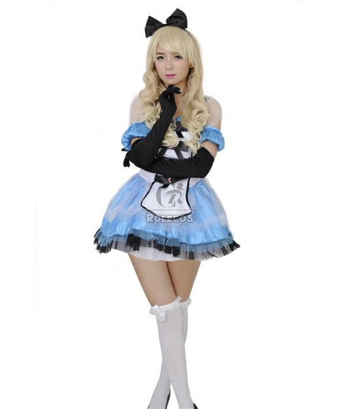 Alice's Adventures in Wonderland Princess Bubble Dress France Maid Costumes