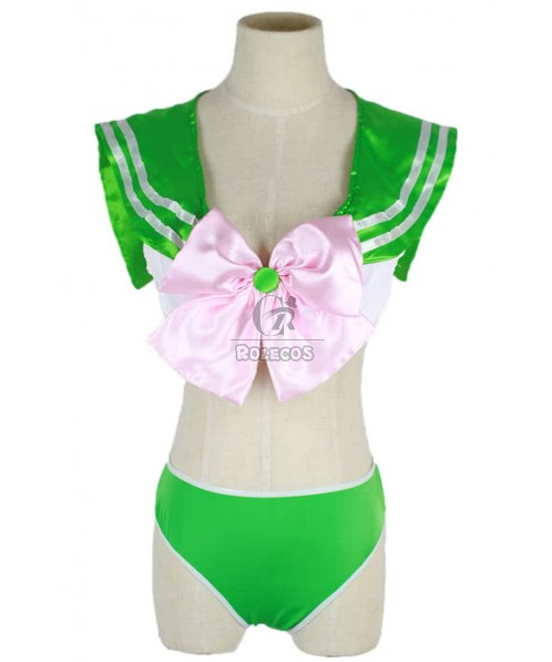 Super Sprout Anime Cosplay Costume of Three Colors Swim Suit