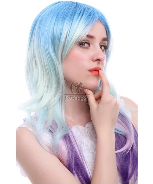 Cosplay Wigs Women Synthetic Hair Wig Long Curly Mixed Color Wig zy122c