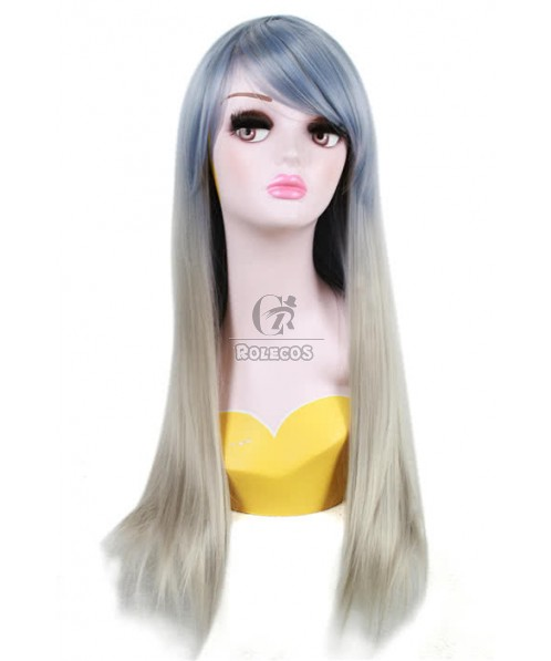 70cm Long Harajuku Mixed Straight cosplay wig