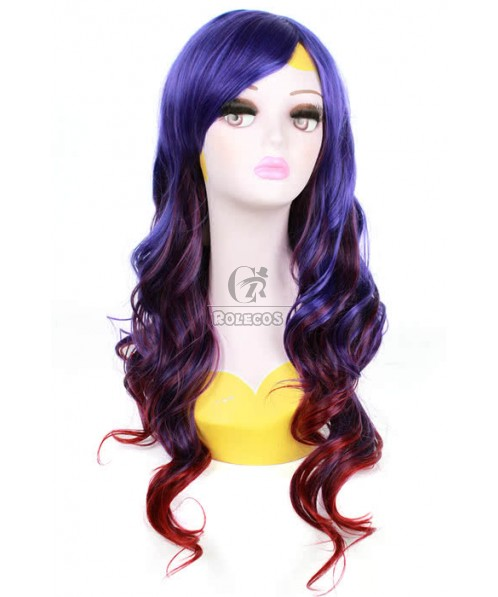 70cm Long Mixed color Cosplay Wig Rock Fade Culy hair