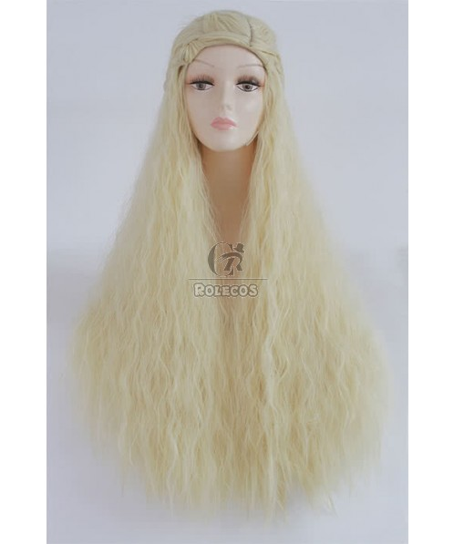 90cm Long Blonde Cosplay Wig  Daenerys Anime Hair