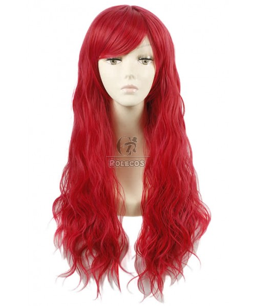 80cm Long Red Fashion Fluffy Curly Cosplay Wig