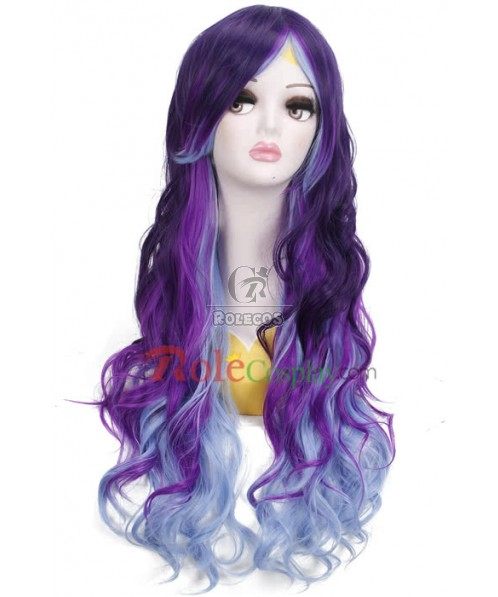 Long Mixed Color Curly Synthetic Cosplay Wigs