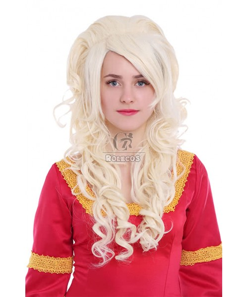 Cosplay Wigs Long Beige Wave Woman Wigs
