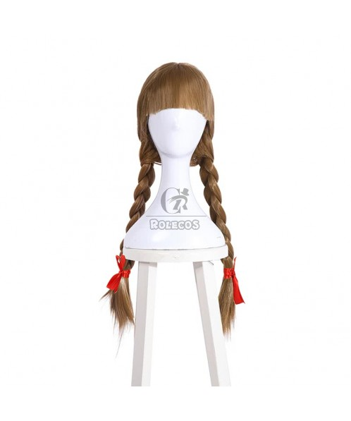 65cm Brown Anna Wig Plait Modelling Can Be Easily Managed