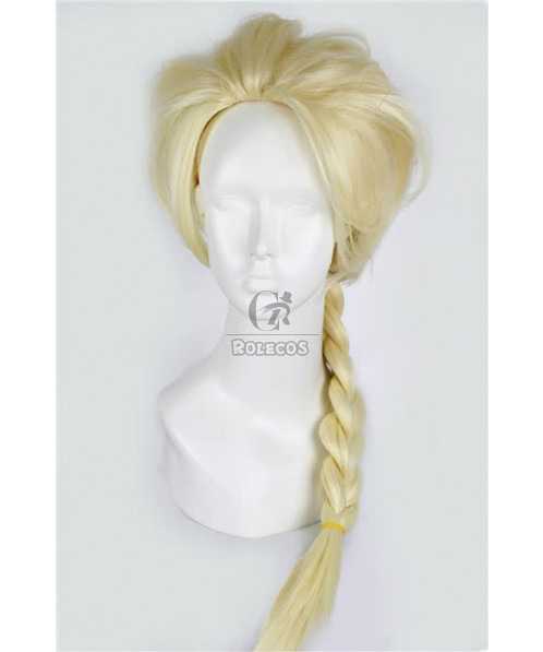 Princess queen Elsa Cosplay wig 75cm Braid Wig 2 colors for celection
