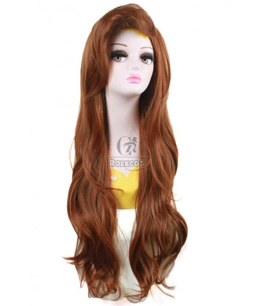 70cm Long Brown Little Mermaid Ariel Cosplay Wigs
