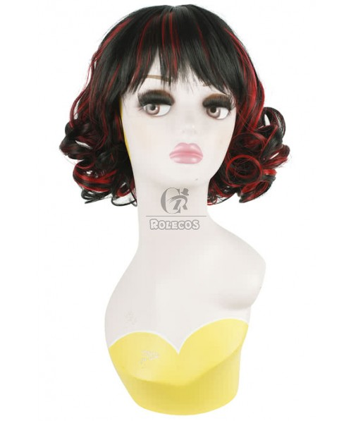 30CM Short Mixed Cosplay Wigs Attractive