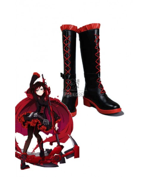 Ruby Rose Red and Black Anime Cosplay Shoes