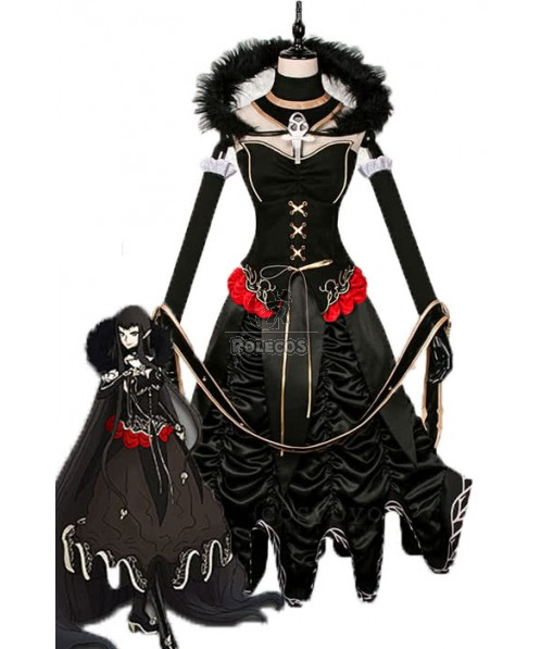 Fate/Apocrypha Assassin of Red Black Anime Cosplay Costumes