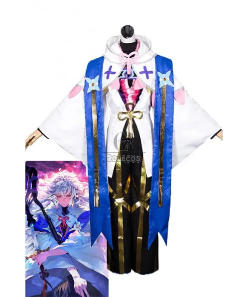 Fate/Grand Order Merlin Magus of Flowers Anime Cosplay Costumes