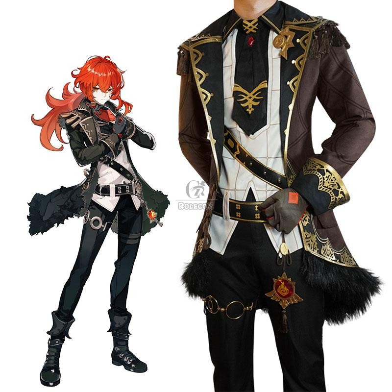 Buy Game Genshin Impact Diluc Cosplay Costume For Sale - RoleCosplay.com